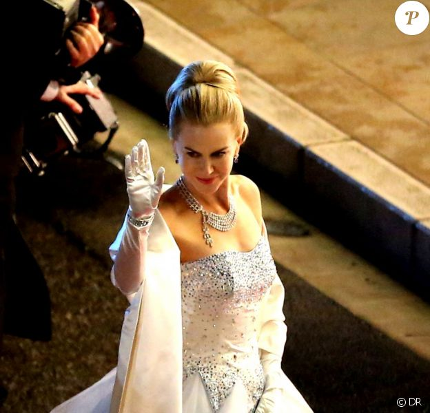 Nicole Kidman sur le tournage de Grace de Monaco, réalisé par Olivier Dahan. Monte Carlo, fin octobre 2012 Photo exclusive