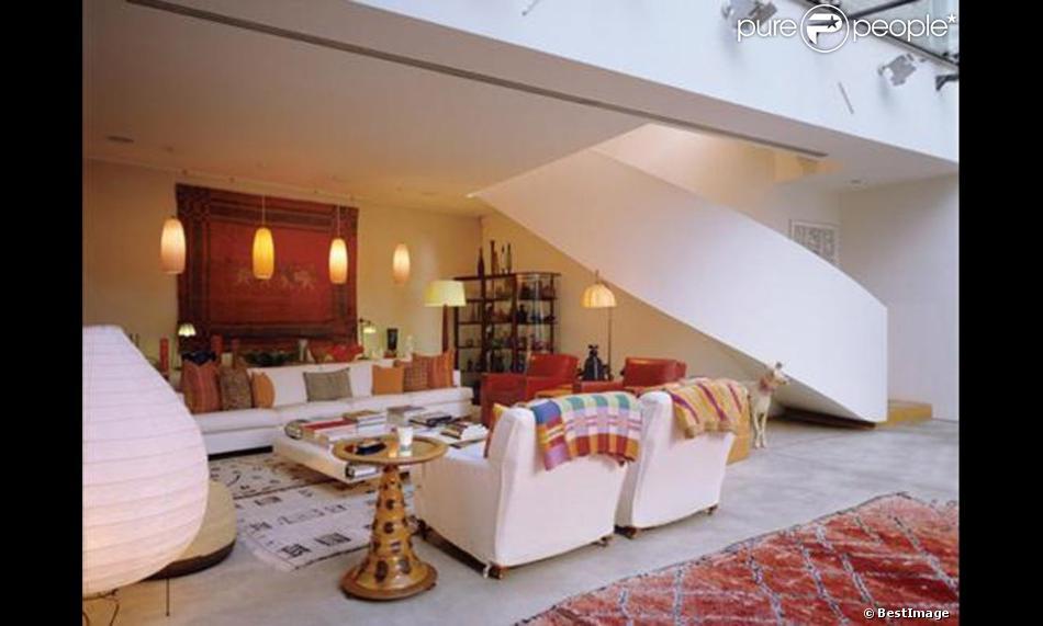 Intérieur de la nouvelle maison que louent David et Victoria Beckham à Londres. Une residence qu'ils louent au styliste Touker Suleyman proprietaire des magasins Ghost. Le 12 janvier 2013.