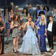 Melanie Brown, Geri Halliwell, Emma Bunton, Melanie Chisholm, Victoria Beckham à la première de la comédie musicale des Spice Girls The Viva Forever à Londres, le 11 décembre 2012.