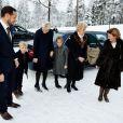 Les royaux norvégiens lors de la messe de Noël, le 25 décembre 2012, à Holmenkollen, Oslo.