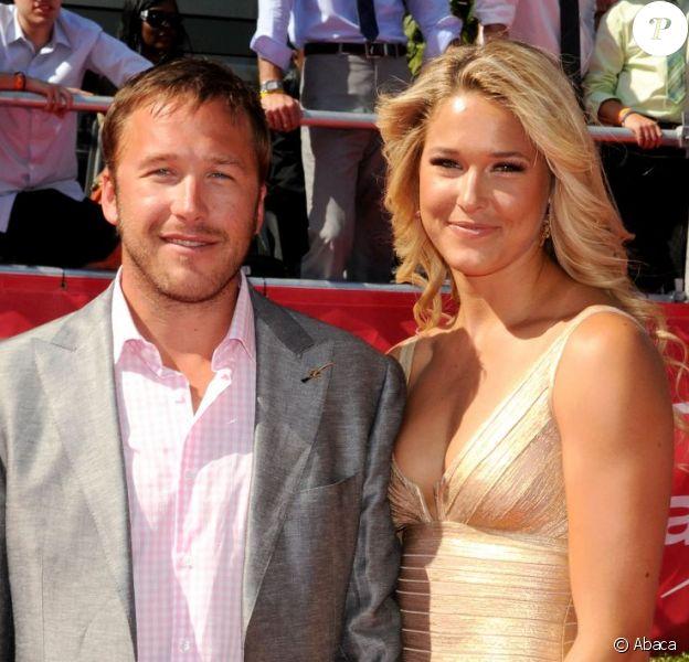 Bode Miller et Morgan Beck le 11 juillet 2012 au Staples Center de Los Angeles le 11 juillet 2012