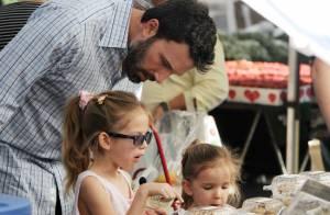 Ben Affleck : Direction le Farmers Market avec les adorables Seraphina et Violet