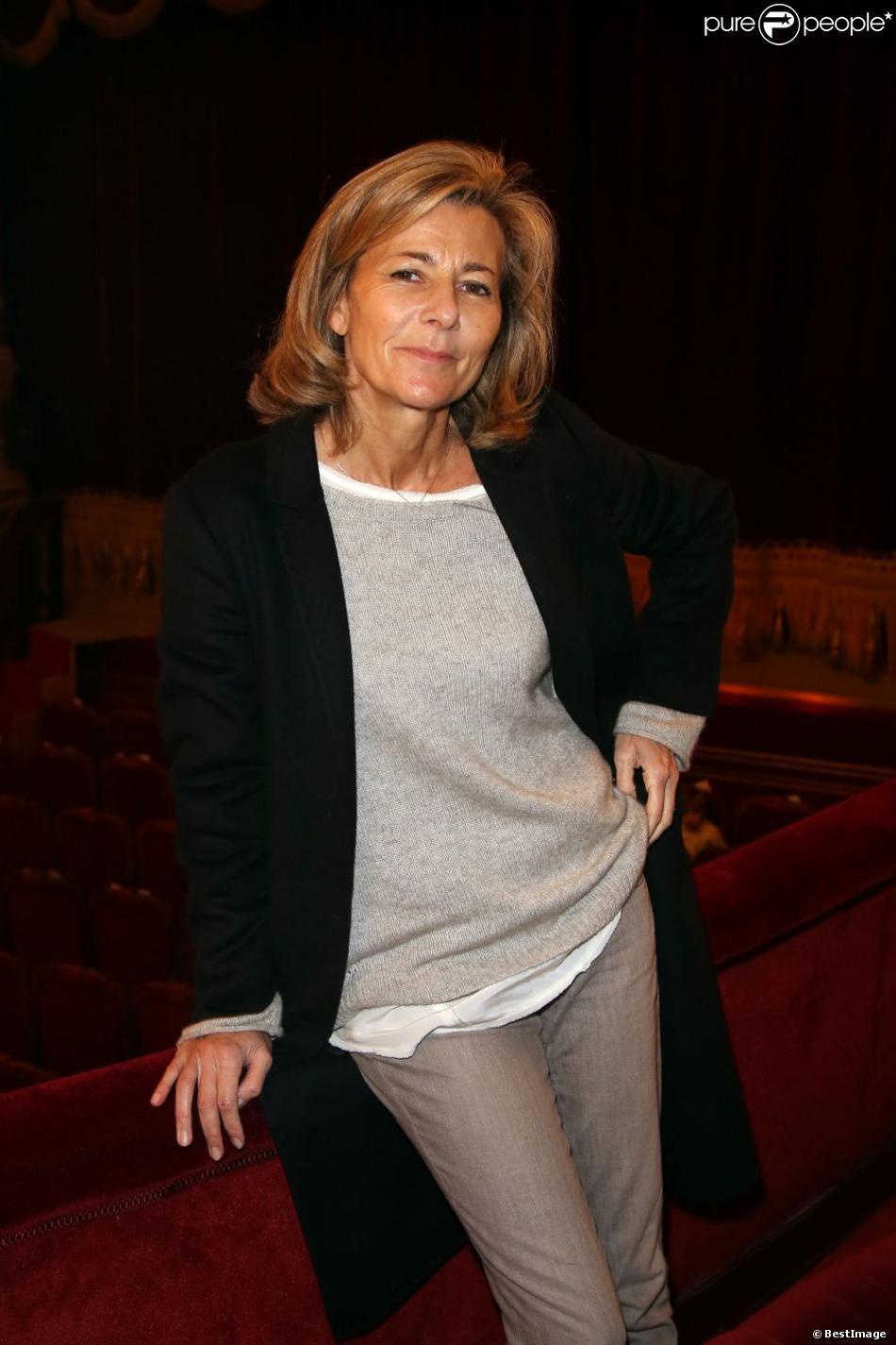 Claire Chazal assiste au défilé haute couture printemps-été 2013 de Franck Sorbier au théâtre du Palais Royal. Paris, le 23 janvier 2013.