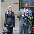 Nafissatou Diallo quittant le tribunal du Bronx à New York, USA le 10 décembre 2012. Un accord financier entre Dominique Strauss-Kahn et Nafissatou Diallo qui l'accusait d'agression sexuelle a mis fin aux poursuites contre l'ancien patron du FMI à New York
