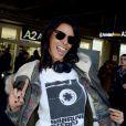 Shy'm arrive à l'aéroport de Nice, avant de filer vers Cannes pour les NRJ Music Awards, le 25 janvier 2013.