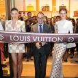 Miranda Kerr et Isabeli Fontana assistent à la soirée d'inauguration de la nouvelle boutique Louis Vuitton à Cancùn. Le 26 janvier 2013.