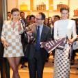 Miranda Kerr et Isabeli Fontana célébrent l'ouverture de la nouvelle boutique Louis Vuitton à Cancùn. Le 26 janvier 2013.