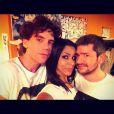 Shy'm entourée de Mika et Grégoire lors de la boîte à musique des Enfoirés à Bercy
