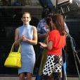 Les filles de 90210 sur le tournage de la série, à Los Angeles, le 31 janvier 2013.