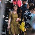 Shenae Grimes de 90210 sur le tournage de la série, à Los Angeles, le 31 janvier 2013.
