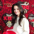 Katie Holmes au lancement du concours Share Love pour la Saint Valentin, chez Godiva, au Rockefeller Center à New York City, le 31 janvier 2013.