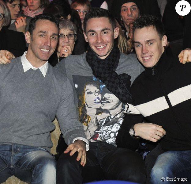 Daniel Ducruet et ses fils Michael et Louis lors du coup d'envoi du Festival New Generation dont sa fille Pauline est la présidente du jury, le 2 février 2013 au chapiteau de Fontvieille à Monaco