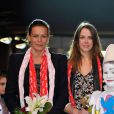 La princesse Stephanie de Monaco et sa fille Pauline Ducruet a la soiree « New Generation », 2eme Competition de Cirque pour de Jeunes Artistes a Monaco. Le 2 fevrier 2013  Princess Stephanie of Monaco and her daughter Pauline Ducruet attend the 2nd New generation Circus Festival, in Monaco, 2 February, 2013. The Organising Committee of the International Circus Festival of Monte Carlo decided to create a new International Festival for Young Artists under the Presidency of H.S.H. Princess Stephanie of Monaco and in collaboration with her Daughter Pauline as President of the Jury. The Festival «New Generation» is the one and only competition for Young Circus Artists which will be held in an original Circus ring. the event runs from 2nd to 3rd February.02/02/2013 - MONACO
