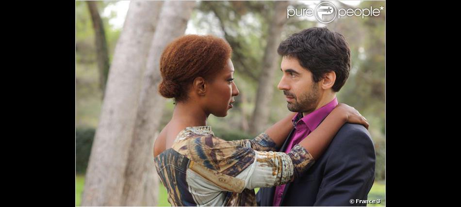 Ludovic Baude et Nadège Beausson-Diagne dans Plus Belle La vie sur France 3
