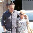 Michelle Williams et son compagnon Jason Segel en promenade à Los Angeles le 20 août 2012