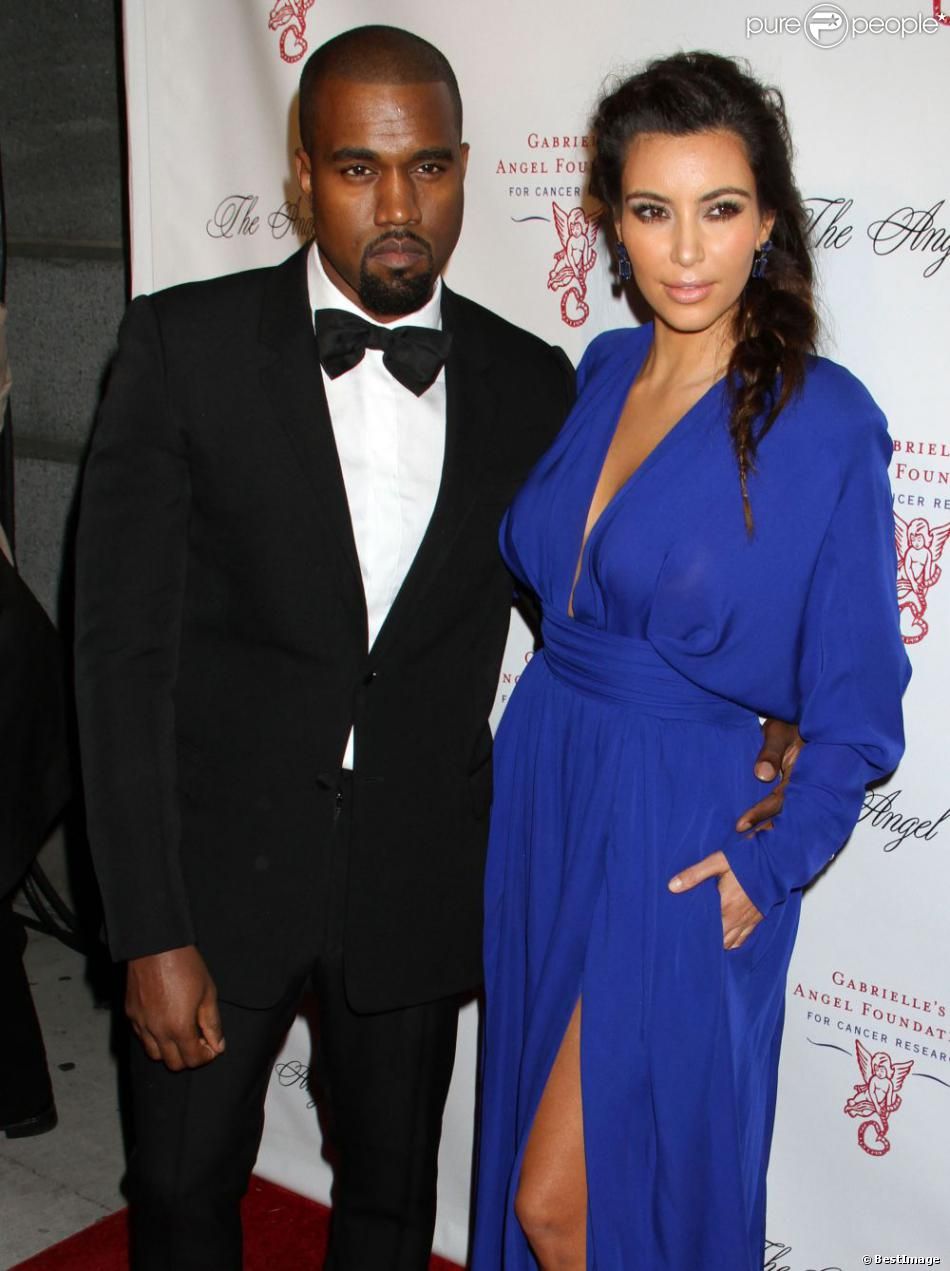 Kanye West, Kim Kardashian à la soirée Angel Ball à New York, le 22 octobre 2012.