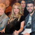 Shakira et Gerard Piqué le 14 janvier 2013 à Barcelone.