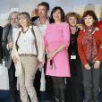 La présidente du jury Macha Meril et les membres du jury Philippe Chevalier, Jean Musy, Caroline Huppert, Benedicte Lesage, Anne Consigny, Sophie Deschamps et Philippe Caroit au 15e Festival de Luchon, le 13 février 2013