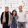 Saida Jawad, Regis Musset et Dominique Besnehard pendant le photocall de Tanagra dans la sélection Horizon Télé, au 15e Festival de Luchon, le 13 février 2013