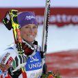 Tessa Worley lors de sa victoire aux mondiaux de Schladming en Autriche le 14 février 2013 en géant