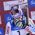 Tessa Worley ne peut retenir quelques larmes après sa victoire aux mondiaux de Schladming en Autriche le 14 février 2013 en géant