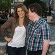 Maria Menounos embrasse Jesse Heiman, le geek de Bar Refaeli à Los Angeles le 14 février 2013.