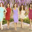Teri Hatcher, Marcia Cross, Felicity Huffman, Eva Longoria et Vanessa Williams : image promotionnelle de la saison 8 de  Desperate Housewives .
