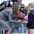 Kate Middleton, enceinte de 5 mois, a rencontré des pensionnaires de la Hope House, un foyer géré par Action on Addiction, en visite officielle le 19 février 2013, dans le sud de Londres.