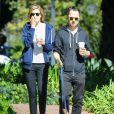 L'acteur Giovanni Ribisi et sa femme Agyness Deyn se rendent au Starbucks à Santa Barbara, le 17 février 2013.