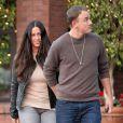 Alanis Morissette et son époux Mario Treadway quittent le restaurant  La Scala  situé dans le quartier de Brentwood à Los Angeles, le 18 février 2013.