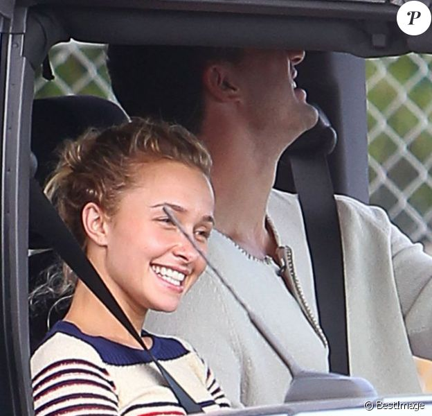 La jolie Hayden Panettiere et Wladimir Klitschko, en sortie amoureuse à Miami, le 19 février 2013.