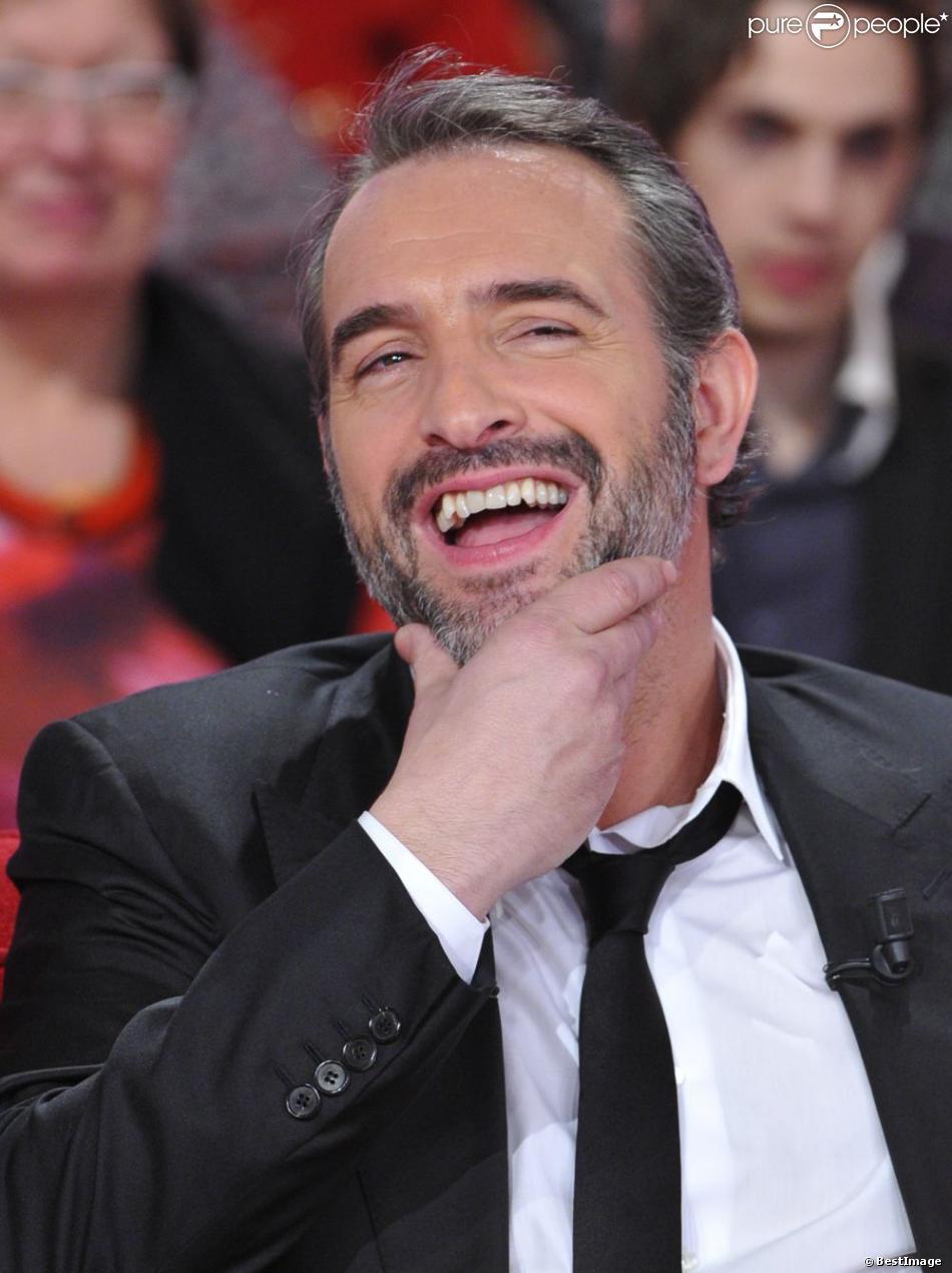 Jean dujardin heureux pendant l 39 enregistrement de l for Dujardin ou adjani