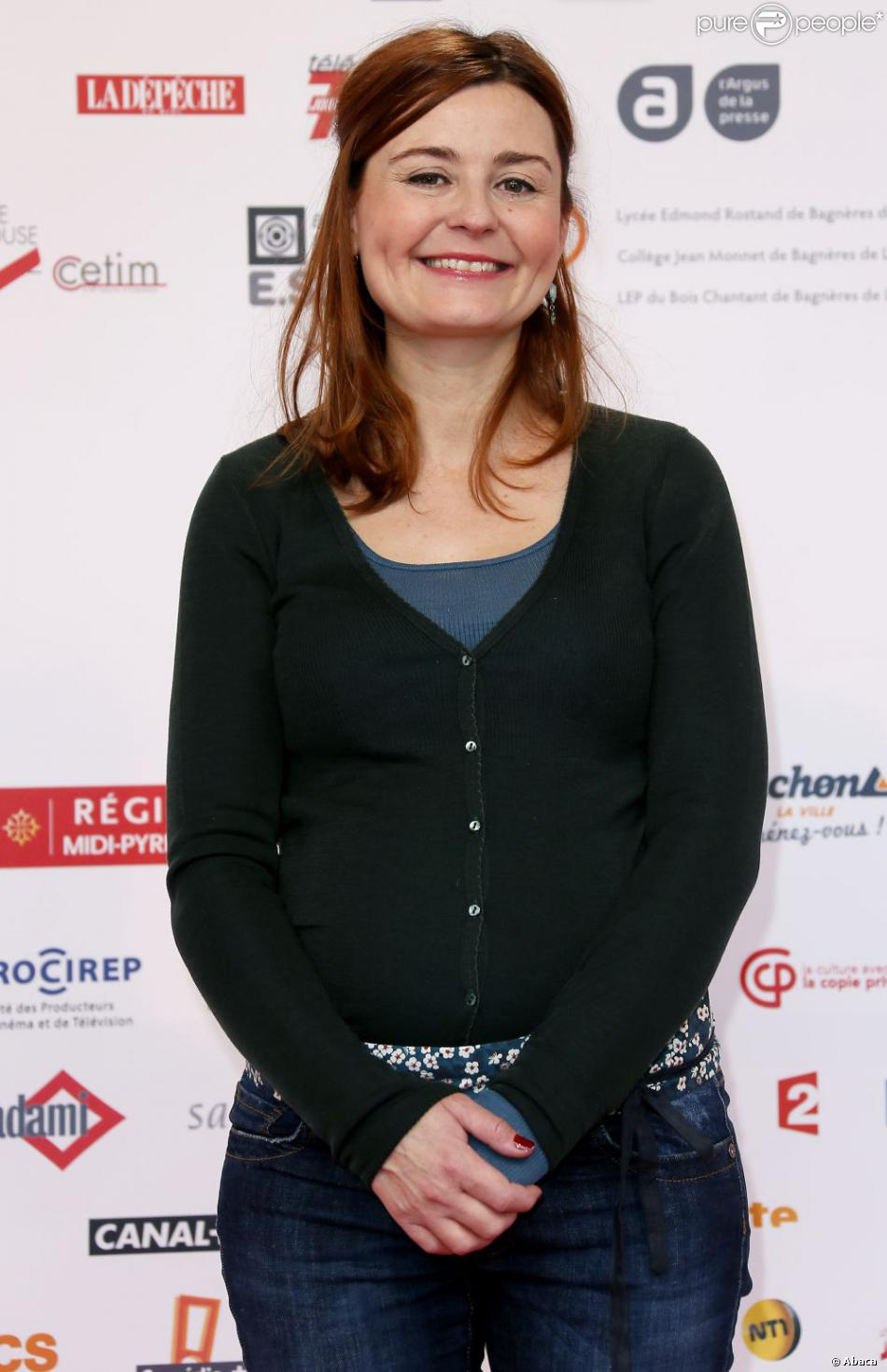 Christelle Reboul au Festival de la création télévisuelle de Luchon, le 14 février 2013.