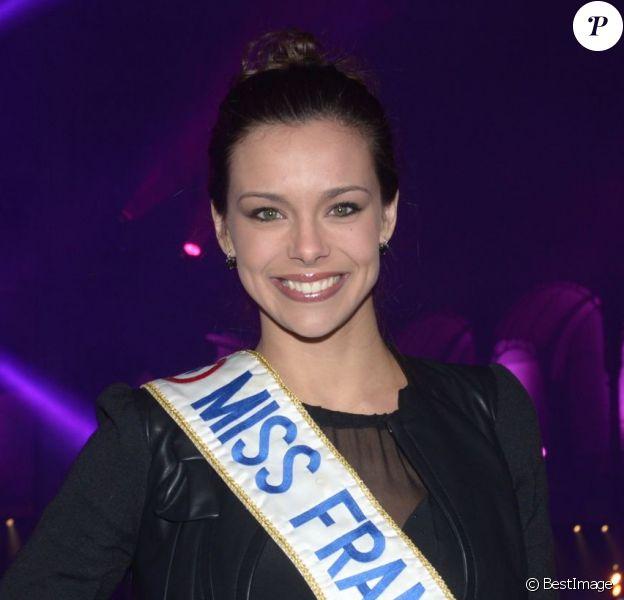 Miss France 2013, Marine Lorphelin - Soirée Radio FG au Grand Palais à Paris, le 21 février 2013.