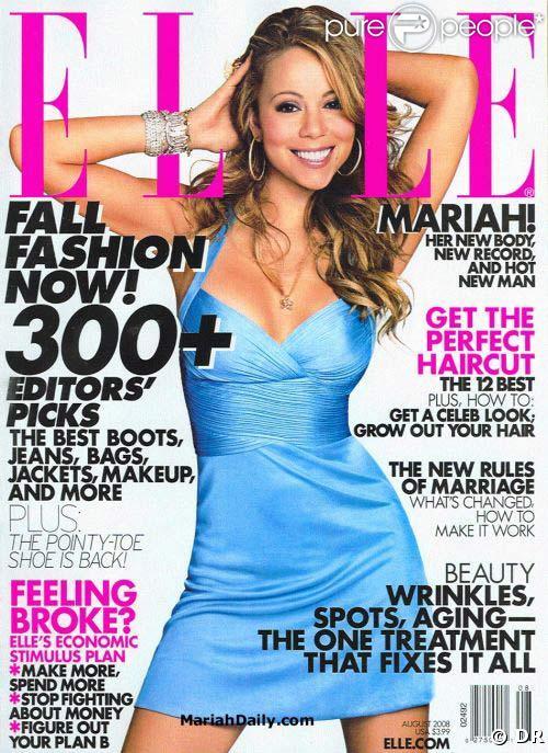 Mariah Carey en couv du magzine ELLE US, août 2008