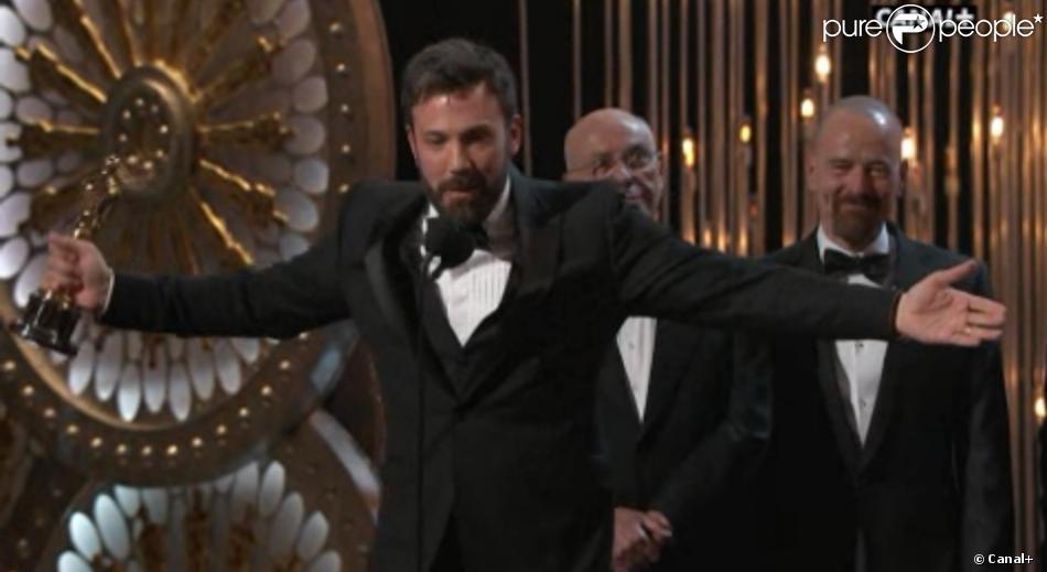 Ben Affleck, acteur et réalisateur d'Argo, meilleur film, lors des Oscars 2013