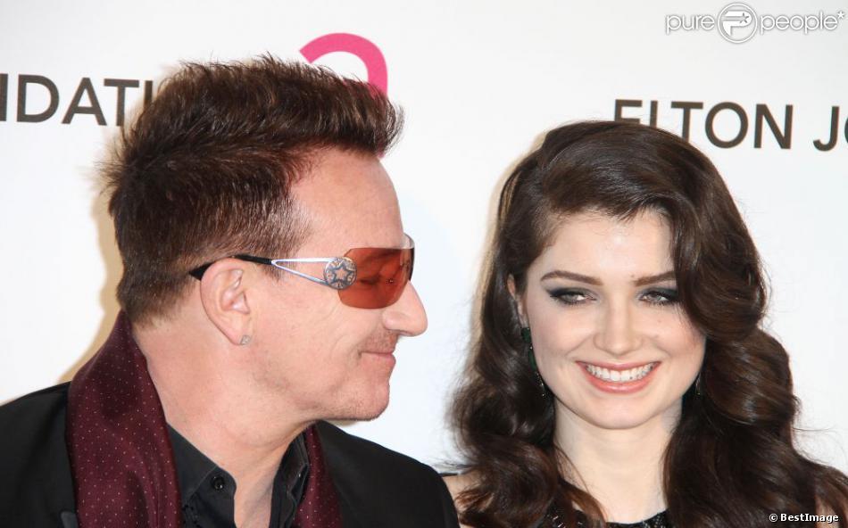 Bono et sa fille Eve Hewson, à la soirée organisée par la fondation Elton John, en marge des Oscars, le 24 février 2013.