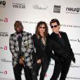 Randy Jackson, Steven Tyler et Jim Carrey à la soirée organisée par la fondation Elton John, en marge des Oscars, le 24 février 2013.