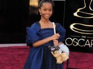 Quvenzhané Wallis irrésistible aux Oscars : Son mini-sac canin fait des ravages