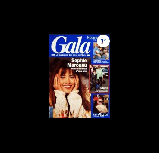 Sophie Marceau en couverture du magazine Gala en 1993 pour le premier numéro de la revue
