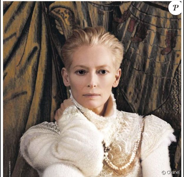 Tilda Swinton dans la campagne Chanel