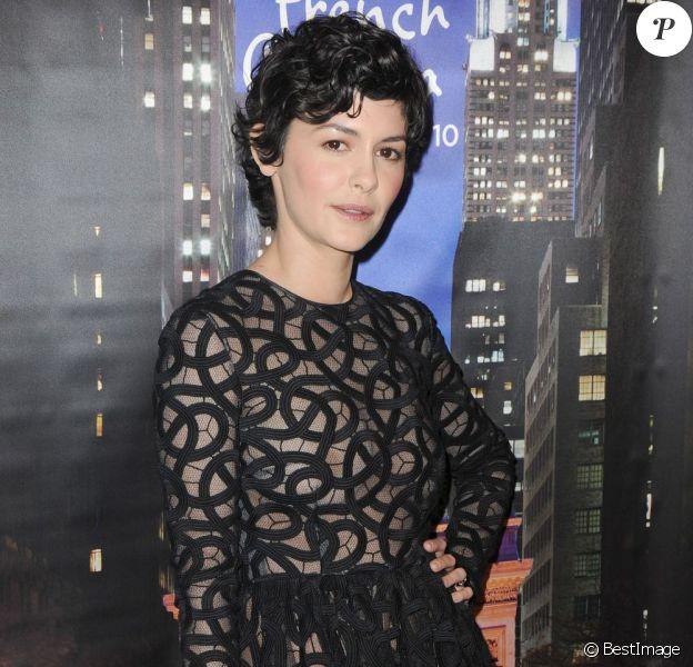 Audrey Tautou resplendissante pour la première du film Populaire à New York, le 28 février 2013.