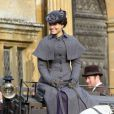 Exclusif - Samantha Barks sur le tournage du film The Christmas Candle le 28 février 2013.