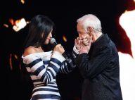 Charles Aznavour : Très ému aux côté d'Anggun et des plus grands artistes