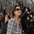 Caroline de Maigret au défilé Chanel à Paris le 5 mars 2013 au Grand Palais