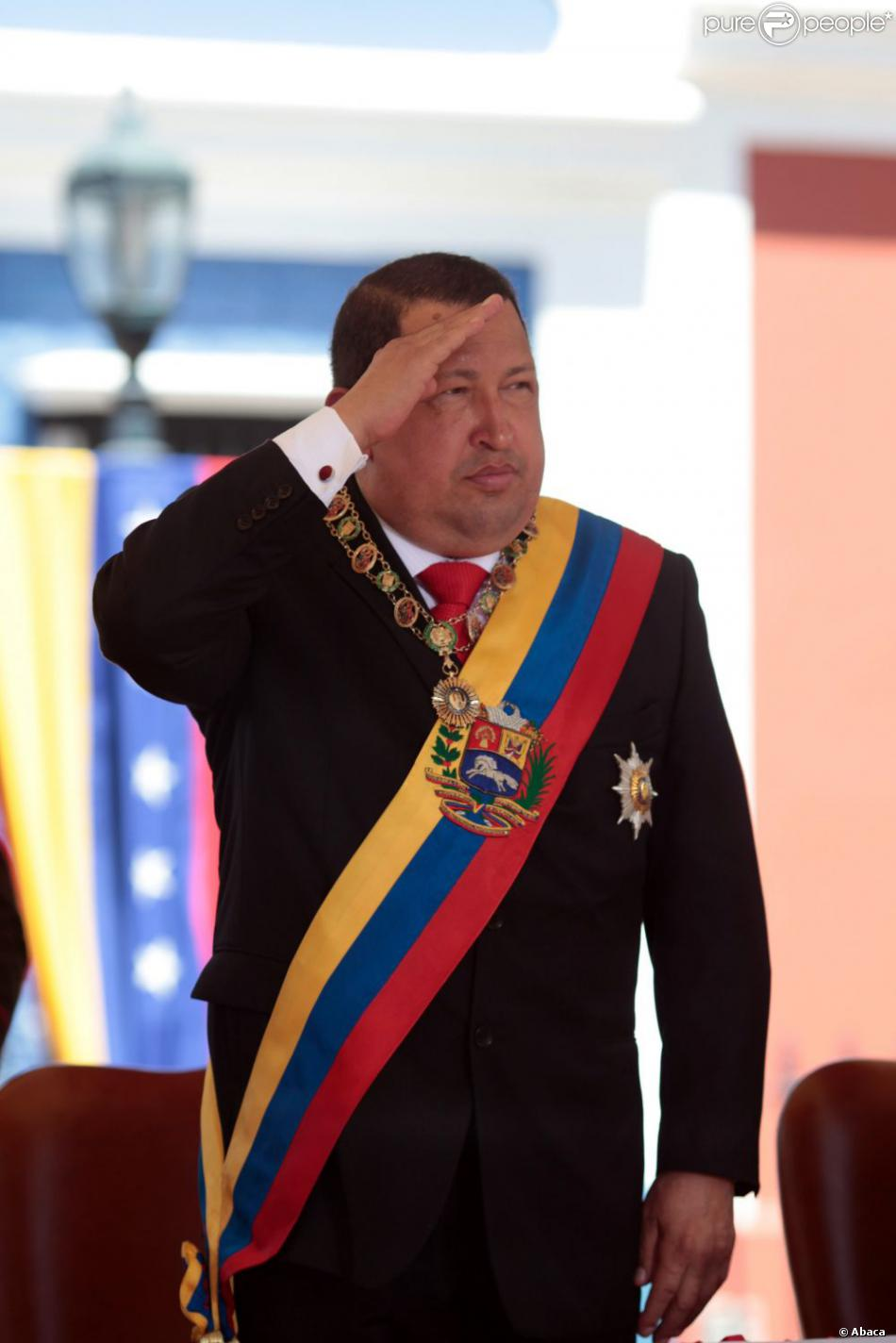 Hugo Chavez à Ciudad Bolivar le 15 février 2012