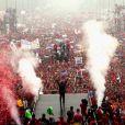 Hugo Chavez après sa réelection le 4 octobre 2012