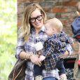 Hilary Duff va chercher son fils à la crèche à Beverly Hills à Los Angeles. Le 7 mars 2013.