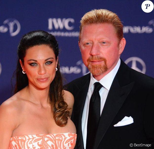 Boris Becker et sa femme Lilly lors de la soirée des Laureus Awards à Rio de Janeiro le 11 mars 2013