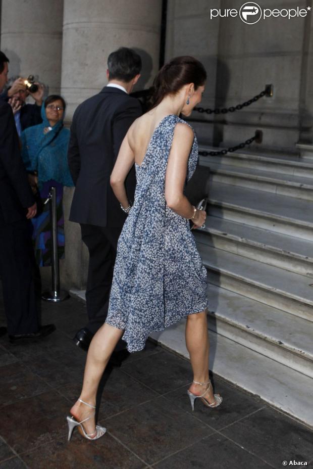 Le prince Frederik et sa belle épouse la princesse Mary de Danemark ont participé à un dîner officiel organisé en leur honneur au Club de la Union à Santiago au Chili. Le 13 mars 2012.